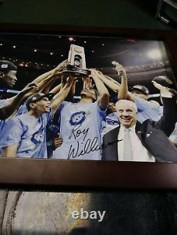 Roy Williams UNC North Carolina Tarheels Signed Trophy 11x14 Framed Photo