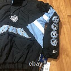 STARTER UNC TARHEELS PULLOVER Jacket Hooded Retro MENS Sz Medium Blue NWT $160