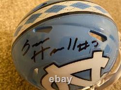 Sam Howell Signed Autograph Auto North Carolina Tarheels UNC Mini Helmet