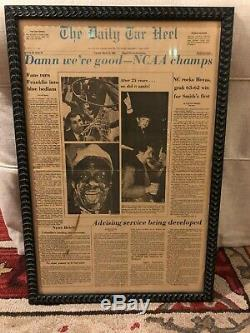 The Daily Tar Heel 1982 UNC NCAA Champions Newspaper Michael Jordan RARE