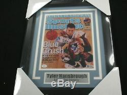 Tyler Hansbrough UNC Tar Heels Signed 8x10 Photo FRAMED Autograph Beckett COA