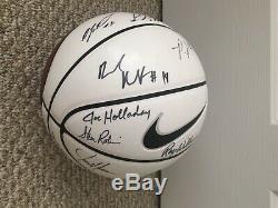 UNC Carolina Tar Heels 2011 2012 Mens team signed Nike Basketball Roy Williams