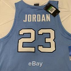 UNC Carolina Tar Heels Michael Jordan 23 Stitched Basketball Jersey Nike XL Blue