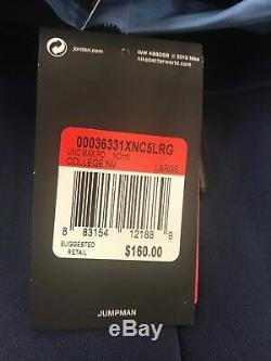 UNC Carolina Tar Heels Nike Jordan 23 Max Pro Tech 1/4-Zip Jacket NWT Large