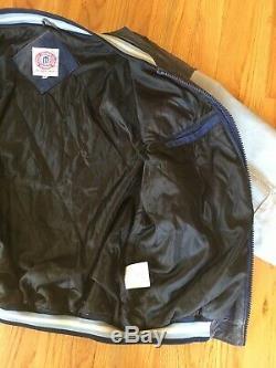 UNC Carolina Tar Heels Suede Leather Bomber Varsity Rams Vintage Jacket XL Coat