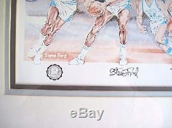 UNC Chapel Hill Tar Heels Basketball BLUE HEAVEN Steve Ford Ltd Edt Signed #