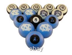 UNC NORTH CAROLINA TAR HEELS NCAA Collegiate Billiards Pool Balls Sets College
