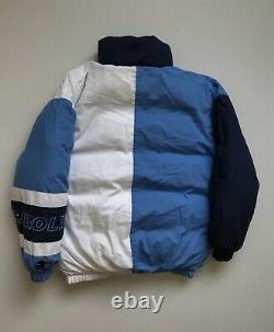UNC North Carolina TAR HEELS STARTER Down double-sided Jacket Mens S Blue