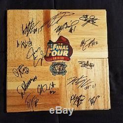UNC North Carolina Tar Heels 2008-2009 Team Signed NCAA Wood Logo Floorboard