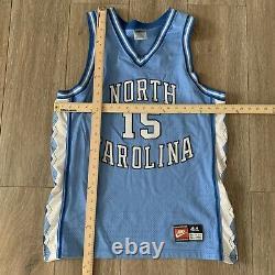 UNC North Carolina Tar Heels Vince Carter #15 Sewn Basketball Jersey SZ 44 Nike