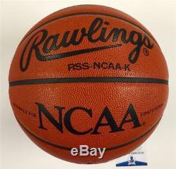 UNC North Carolina Tarheels DEAN SMITH signed NCAA Game Basketball BAS COA