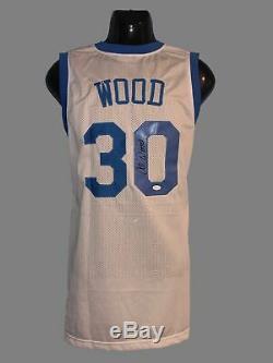 UNC Tar Heels, Al Wood signed custom pro style Jersey with JSA