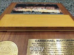 UNC Tar Heels Carmichael Auditorium Game Used Flooring Michael Jordan Authentic