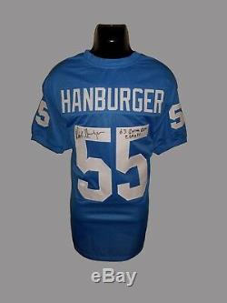 UNC Tar Heels, Chris Hanburger signed custom jersey withJSA & Inscription