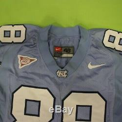 UNC Tar Heels Jersey Team Issued Football Sam Aiken # 88 Vintage ACC Blue Sz 48
