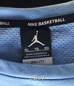 UNC Tar Heels Jordan Authentic Basketball Shorts (L) Shooting Shirt (XL)-2017