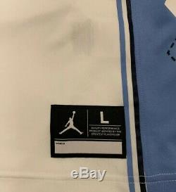 UNC Tar Heels Michael Jordan 23 Stitched Basketball Jersey L White Carolina