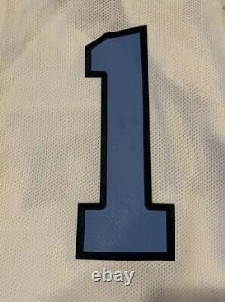 UNC Tar Heels Nike Air Jordan #1 Basketball Jersey Jumpman Logo Size XL White