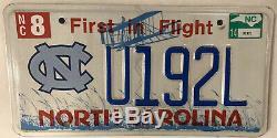 UNIVERSITY NORTH CAROLINA UNC TAR HEELS license plate Chapel Hill 49ers Braves