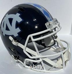 Unc North Carolina Tarheels Riddell Speed Full Size Custom Blue Football Helmet