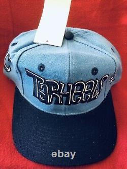 VINTAGE 90's TOW UNC Tarheels Snapback Hat Logo 3D Go Graffiti Lts Team Color Wo