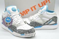 VNDS Reebok Pump Omni Lite UNC Tarheels White/Rivet Grey/Carolina Blue Rare 10