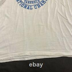 VTG 1982 North Carolina UNC Tar Heels National Champion T Shirt Ringer L Jordan