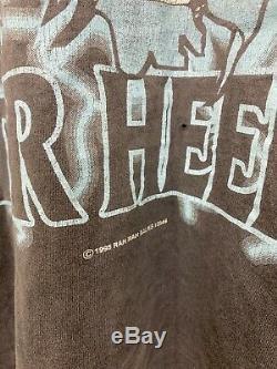 VTG 1995 UNC Carolina Tar Heels Sun Faded Double Sided Print T-Shirt Size L USA