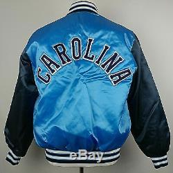 VTG BIKE ATHLETIC Men's UNC TAR HEELS CAROLINA Quilted Satin Jacket XL Blue USA