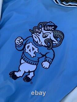 VTG Carolina Tarheels NCAA UNC Leather Varsity Jacket 2XL Jordan Letterman 90s