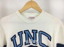 VTG NWT Nutmeg Mills UNC Tar Heels Big Crest Logo Color Block Sweatshirt M RARE