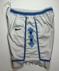 VTG Nike Team UNC North Carolina Tar Heels Home Basketball Shorts 36 L