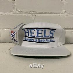 VTG North Carolina Tar Heels UNC Split Bar Snapback Hat The Game NWT New 90s