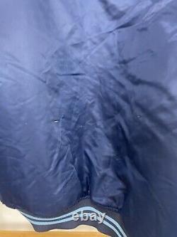 VTG Starter UNC Tar Heels Big Spellout Satin Bomber Jacket Size L