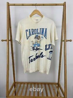 VTG UNC Carolina Tarheels Simply The Best Wrap Around All Over Print T-Shirt L