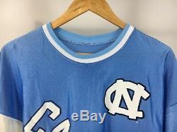 VTG UNC Tar Heels Carolina Big Spellout Logo Jersey Shirt Size
