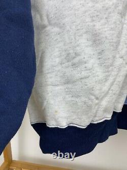 VTG UNC Tar Heels Carolina Ram Colorblock Spellout Crewneck Sweatshirt Size XL