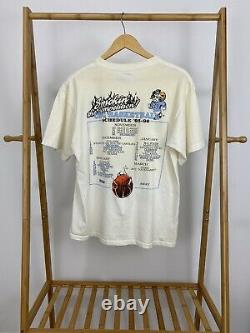VTG UNC Tar Heels Rameses Smokin' The Competition T-Shirt Size L USA