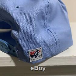 VTG UNC Tar Heels Split Bar Snapback Hat The Game Glued Glue Tag NWOT New