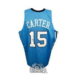 Vince Carter Autographed UNC Tar Heels Custom Blue Basketball Jersey BAS COA