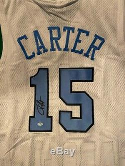 Vince Carter Autographed UNC Tar Heels Custom Pristine White Jersey COA