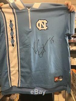 Vince Carter Autographed UNC Tar Heels Custom Warm up jersey JSA COA