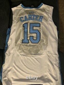 Vince Carter SIGNED North Carolina Tarheels Jersey Autographed XL UNC