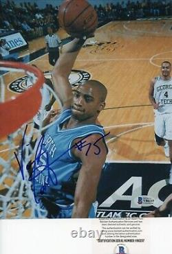 Vince Carter UNC Tar Heels Vintage Signed Autographed 8x10 Glossy Photo Beckett