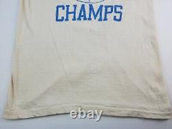 Vintage 1982 UNC Champs T-Shirt Tar Heels Single Stitch MJ Size Small Off-white