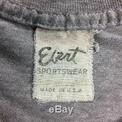 Vintage 70s 80s USA Made UNC Tarheels Crop Top T-Shirt XL Gray Worn Ultra Thin