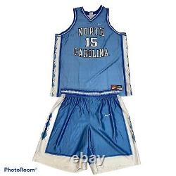 Vintage 90s Nike UNC Tar Heels Vince Carter Basketball Jersey And Shorts XXL
