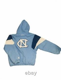 Vintage 90s Starter North Carolina UNC Tar Heels Puffer Jacket Size L Large