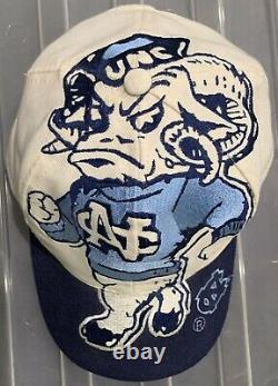 Vintage 90s UNC North Carolina Tar Heels The Game Big Logo Snapback Hat Cap NCAA