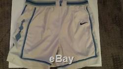 Vintage Authentic NIKE UNC North Carolina Tar Heel White Shorts 40 RARE SIZE XXL
